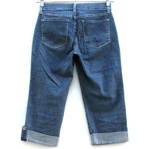 NYDJ Crop Worn Once Buttoned Cuffs Stretch Sz 4P